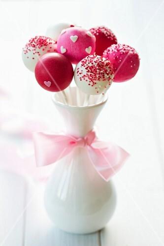 Cake pops for a wedding