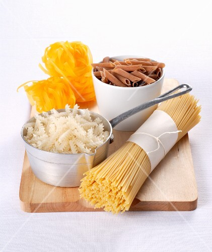 And arrangement of pasta