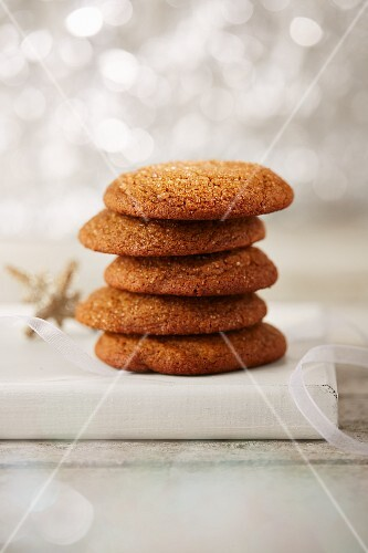 A stack of gingerbread biscuits for Christmas