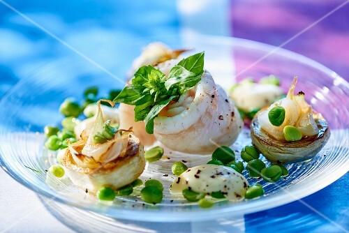 Sole rolls with artichokes