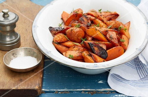 Roasted carrot and herbs
