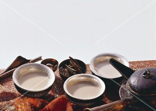 Three Cups of Spice Tea; Tea Kettle