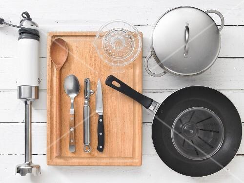 Kitchen utensils for preparing vegetable soup