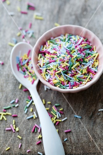 Colourful sugar sprinkles