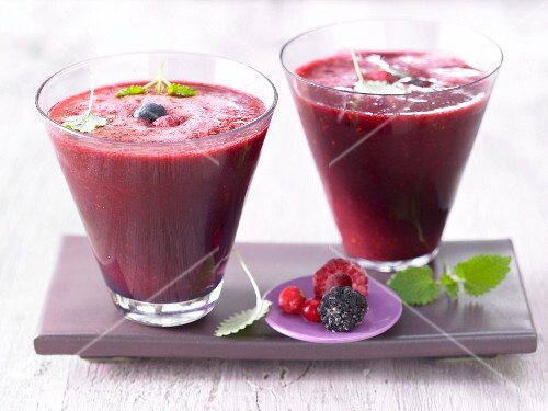 Wild berry cocktails with cranberry juice