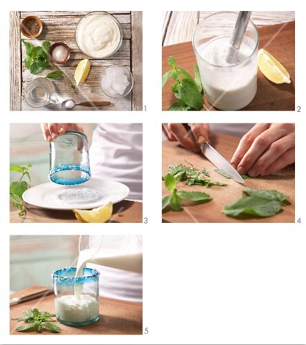 How to prepare Turkish yoghurt drinks with mint
