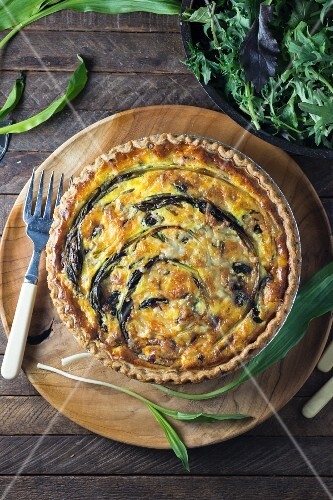 A quiche with ramp