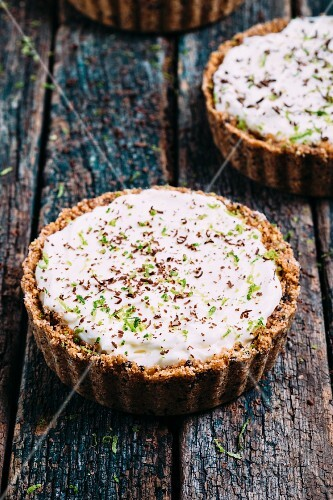 Chocolate key lime pies from the USA