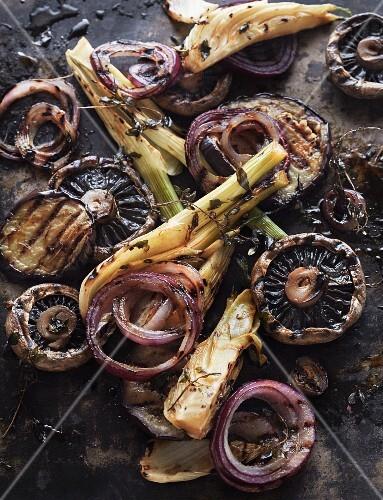 Roasted vegetables with balsamic vinegar