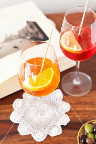 Aperol Sprtiz and Campari Spritz
