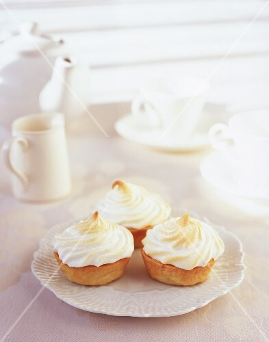 Cupcakes with a meringue topping