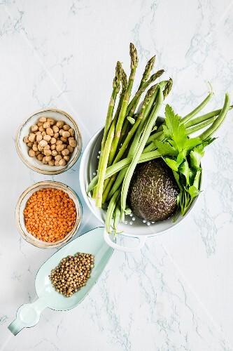 Vegetable ingredients for hummus