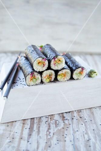 Vegan maki sushi (Japan)