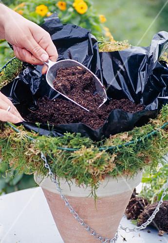 Hanging Basket Bepflanzen Korbboden Mit Bild Kaufen 12110736