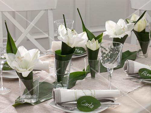 Tischdeko Mit Amaryllis Und Bild Kaufen 12148840 Friedrich