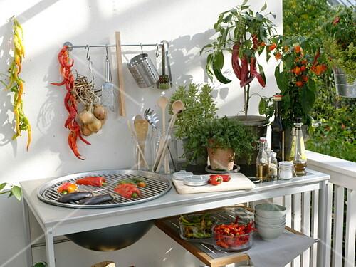 Outdoor Küche Kaufen : Outdoor u küche auf dem balkon u bild kaufen u friedrich strauss