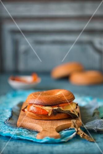 Bagel with pumpkin