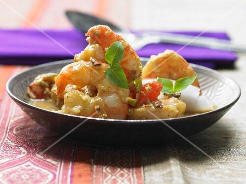 Goan shrimp dish with roasted coconut and coriander