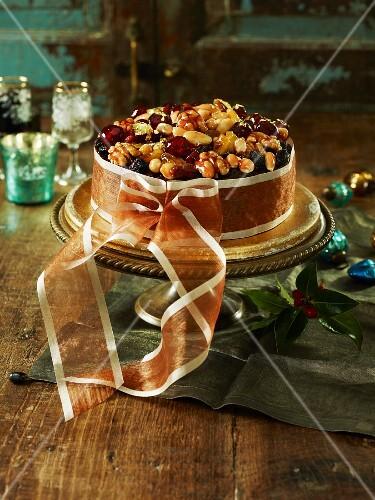 Christmas Cake, mit Schleife gebunden
