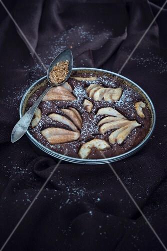 Veganer Birnen-Nuss-Kuchen