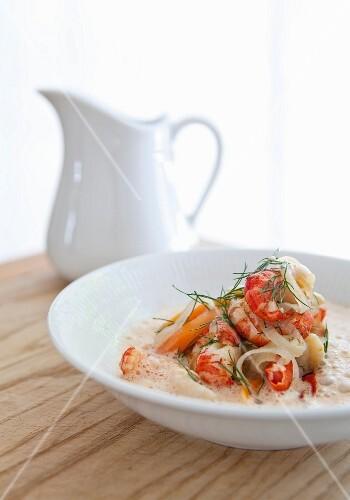 Crayfish soup