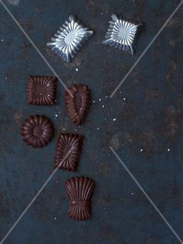 Chocolate with moulds