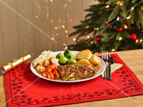 Nut Roast Christmas Dinner