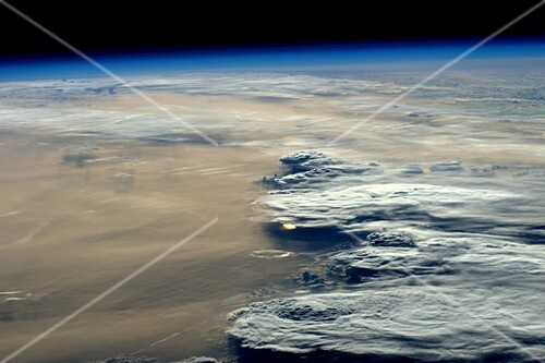 Clouds over Russia, ISS image
