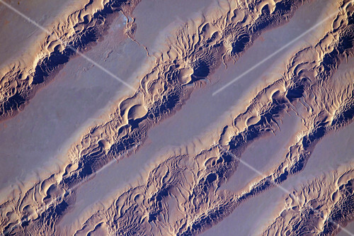 Sand dunes, Algeria, ISS image