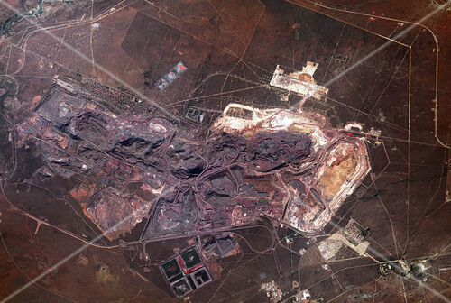 Sishen mine, South Africa, ISS image