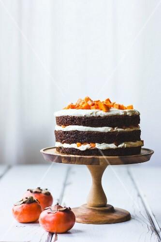Persimmon layer cake