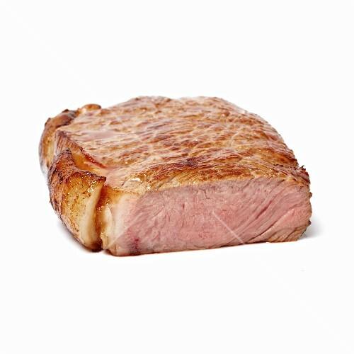A well-done steak