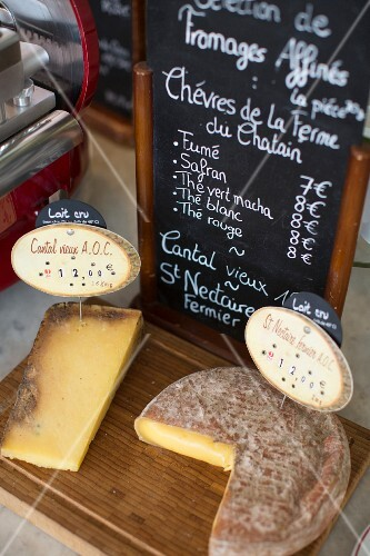 Cheese in the 'L'Assiette' restaurant in Paris, France