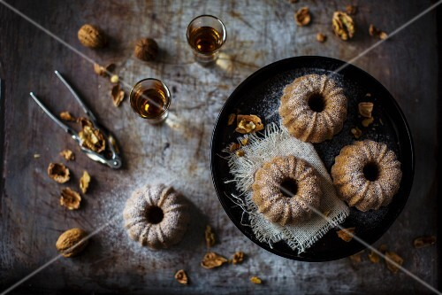 Subtly delicious plain cake with chestnut flour, especially nice with walnuts