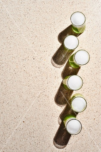 Spring Pea Veloute Shooters with Verbena Foam