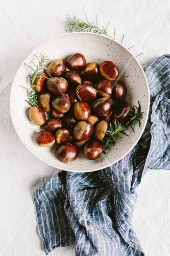A big bowl of chestnuts