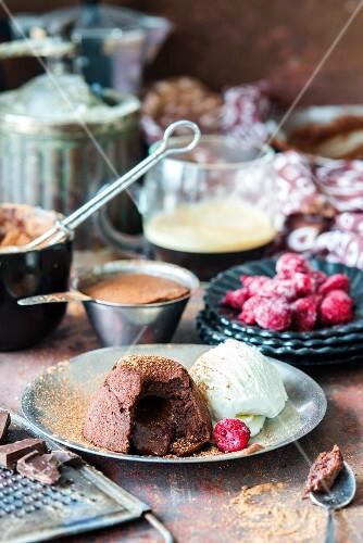 Lava cake (fondant au chocolat)