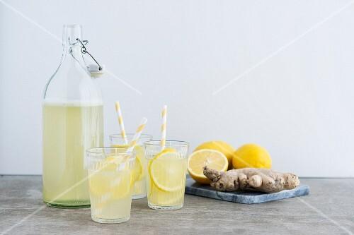 Lemon Ginger Lemonade