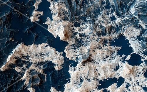 Schiaparelli Crater Mars,satellite image