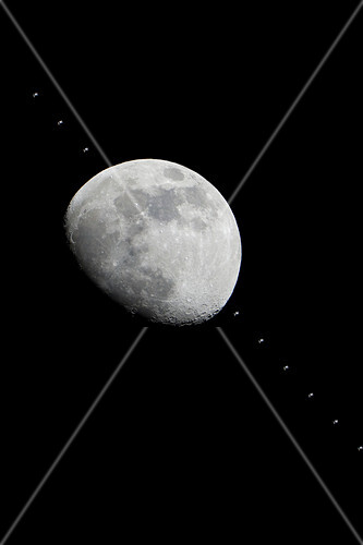 Moon and the ISS