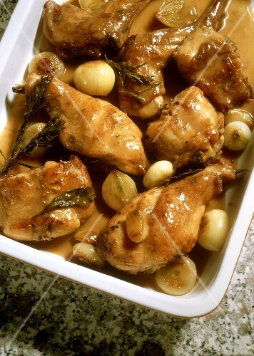 Braised Rabbit with Onions