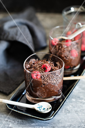 Chocolate date and chia mousse