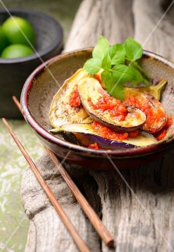 Balado Terong (aubergine with chilli sauce, Indonesia)