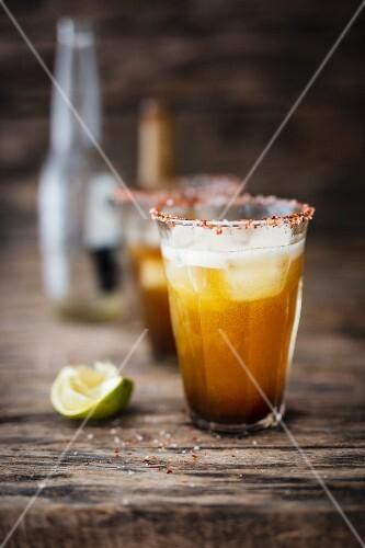 Michelada (beer mix drink, Mexico)