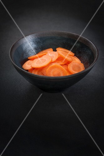 Carrot slices in a bowl