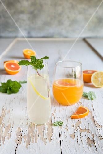 Orange and Lemon Gin Cocktails