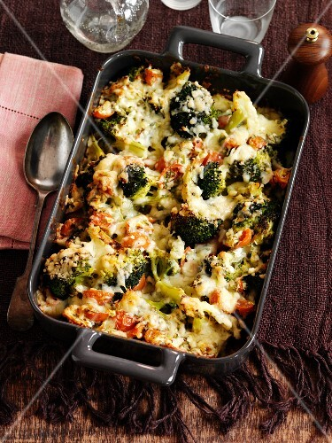 Broccoli bake with cheese