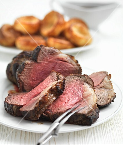 Roast beef with Yorkshire puddings