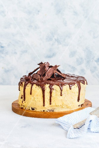 Chocolate Cake with Maple Syrup Frosting