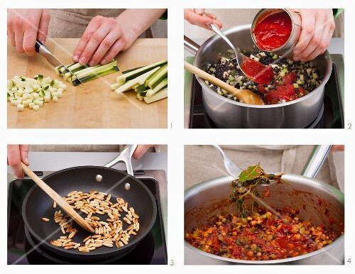 How to make courgette and lentil bolognese (Vegan)